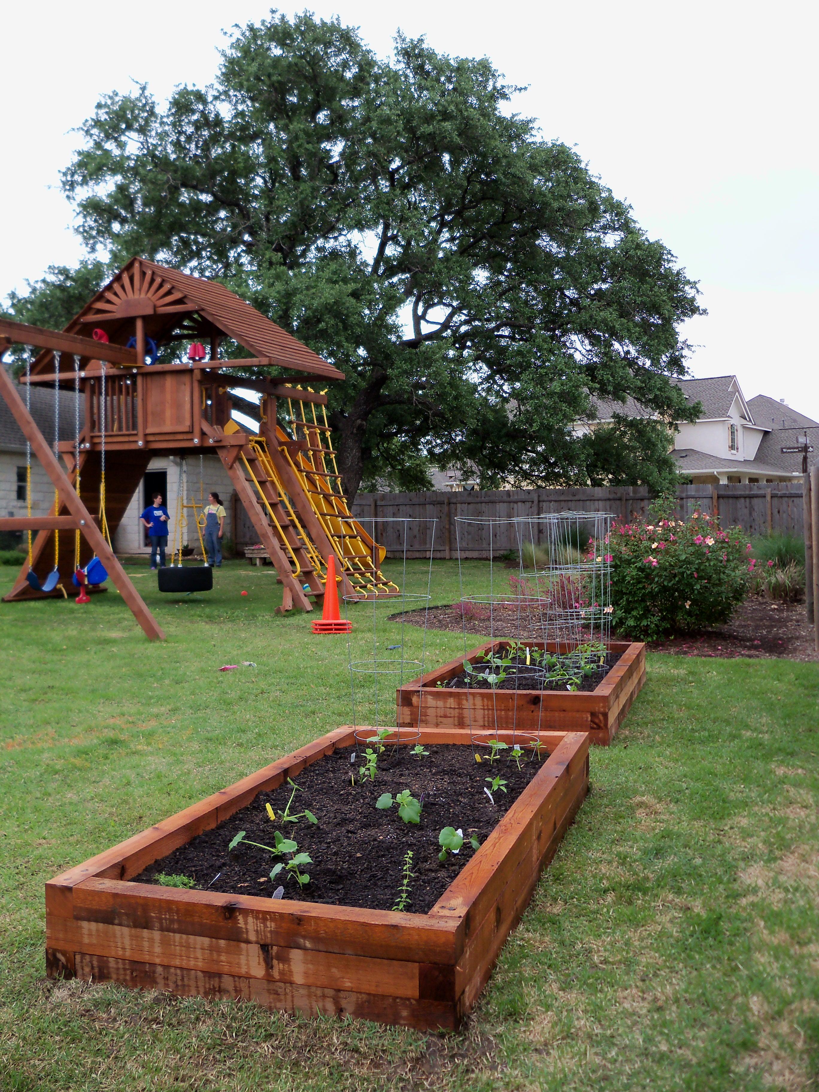 Raised Backyard Vegetable Garden Backyard Raised Vegetable